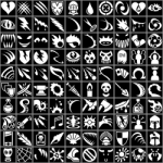 A quick preview of the Lorc RPG icons
